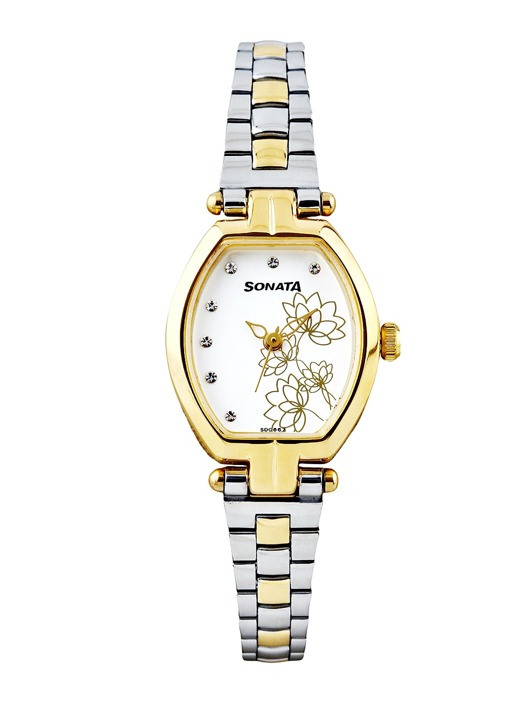 Sonata Women White Dial Watch 8083BM01