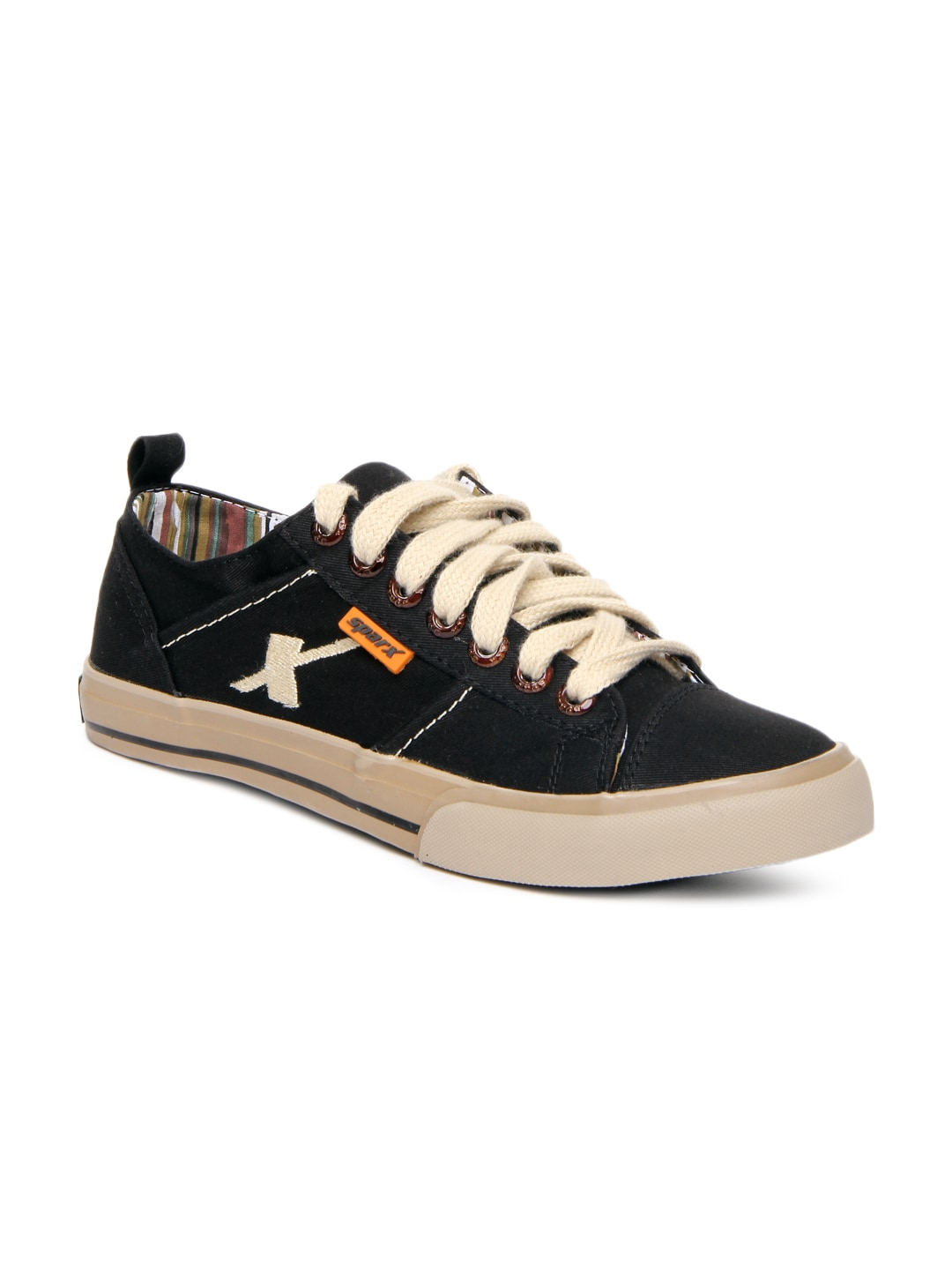 buy sparx black casual shoes 632 footwear for