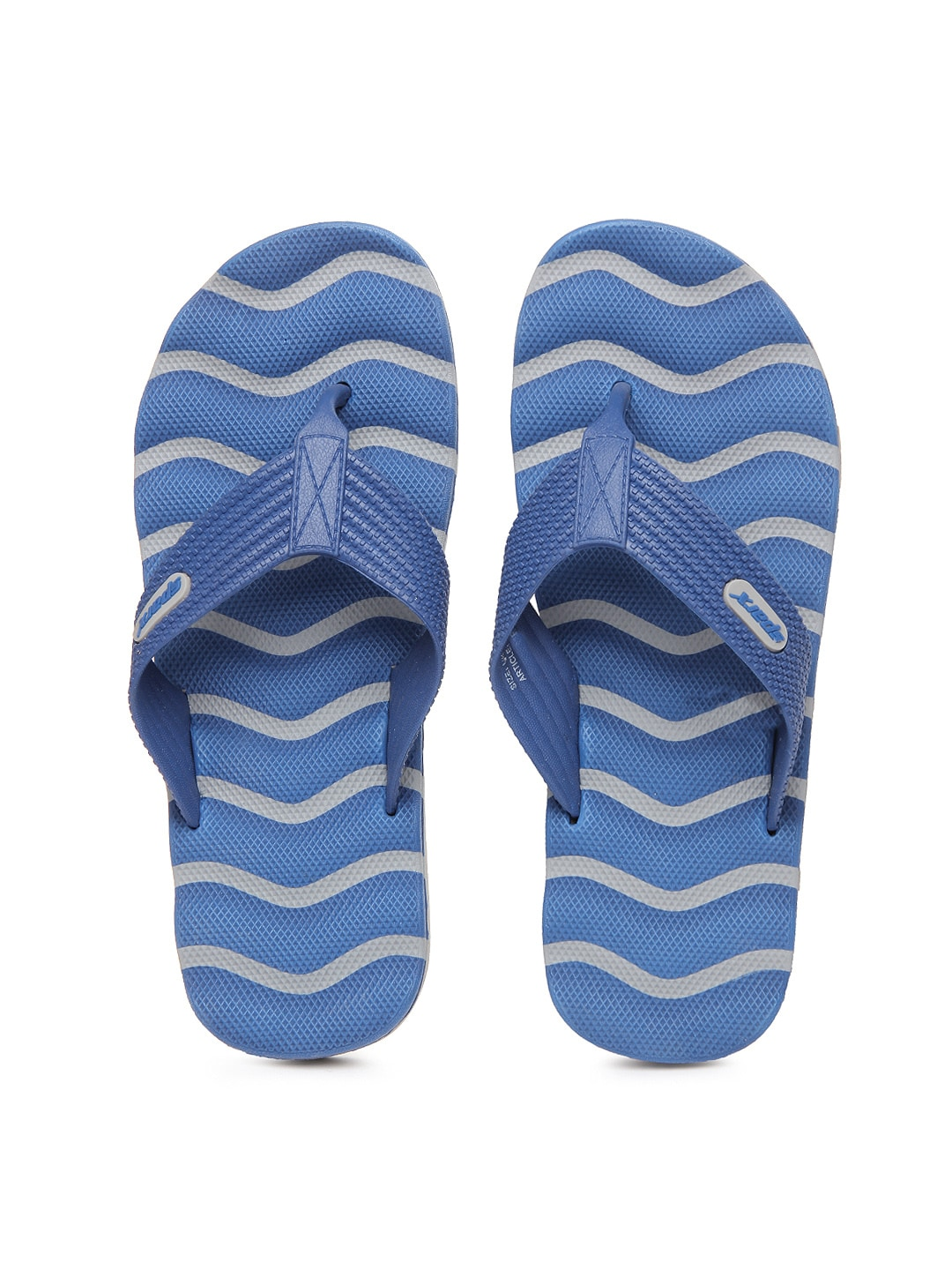 Sparx Sparx Men Blue & Grey Flip Flops (Multicolor)