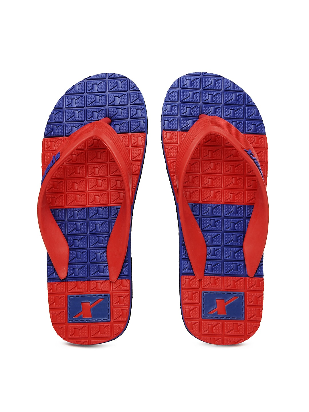 Sparx Sparx Men Red & Blue Flip-Flops (Multicolor)