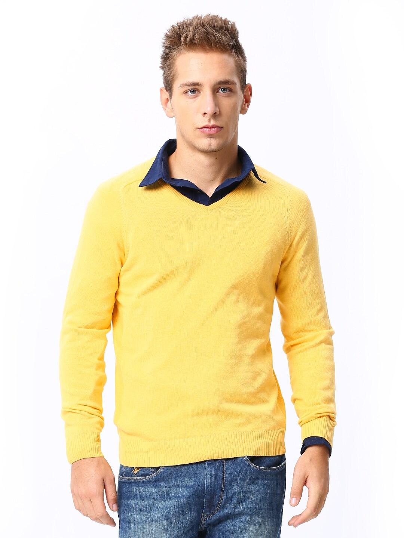 Sports 52 Men Yellow Sweater