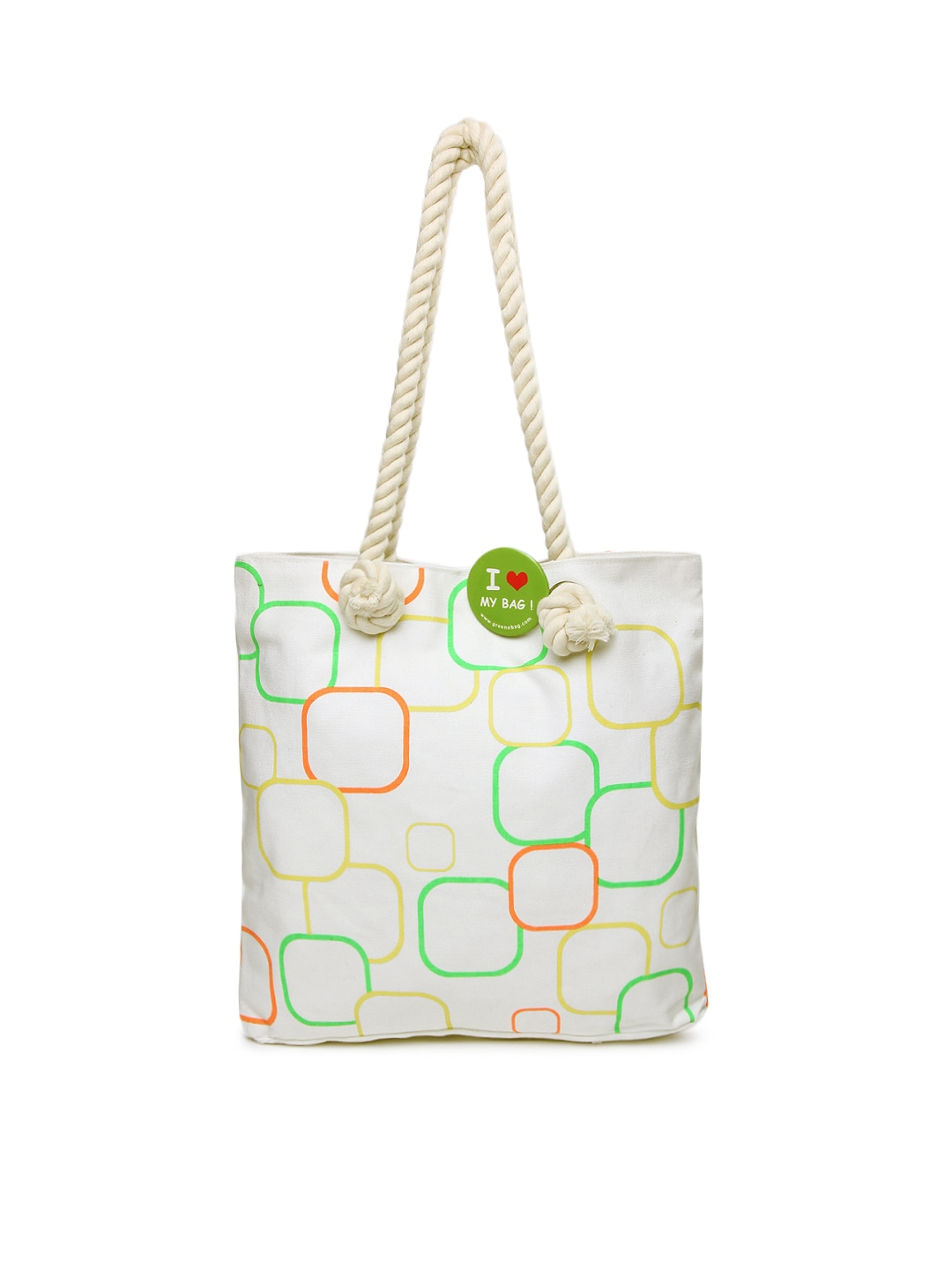 Style Tribe Womens Off-White Tote Bag at Sears.com