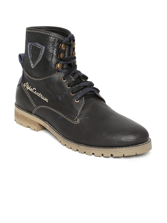 Style Centrum Men Black Leather Boots