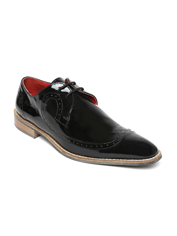 Style Centrum Men Black Leather Semiformal Shoes