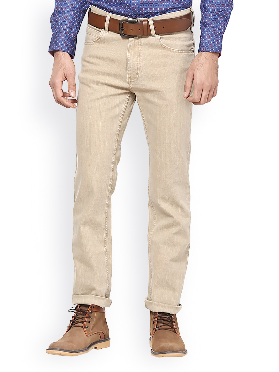 Mens Beige Jeans - Jeans Am