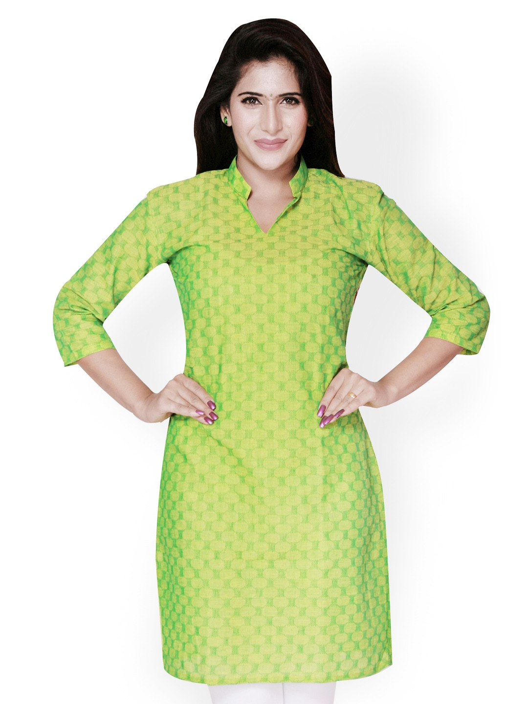Weaves Suvasthra Weaves Women Green Kurta