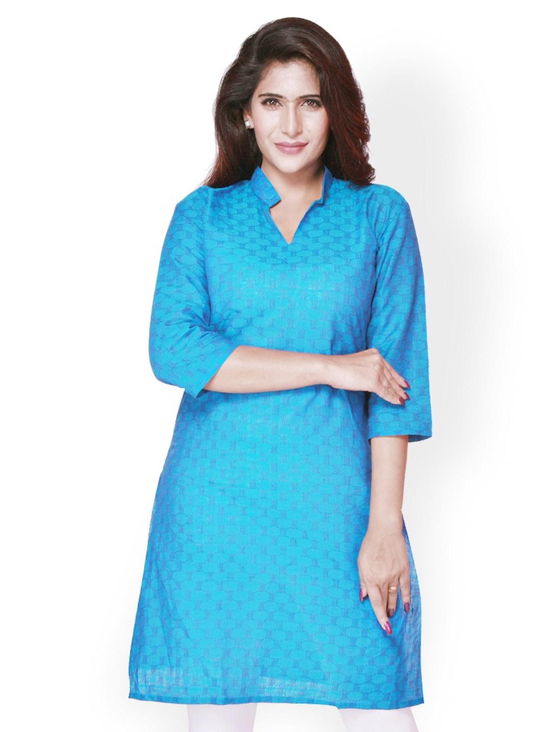 Weaves Suvasthra Weaves Women Blue Kurta