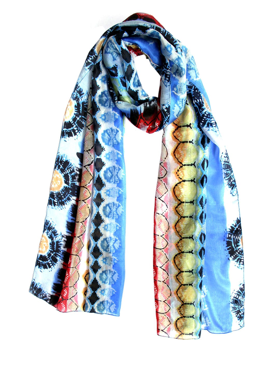 Tassels Tassels Women Multicoloured Printed Stole (Multicolor)