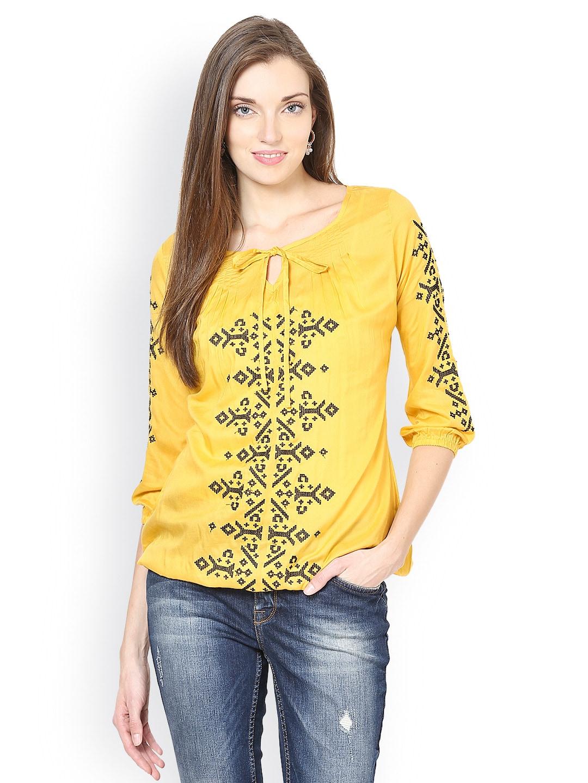 Taurus Women Mustard Yellow Top