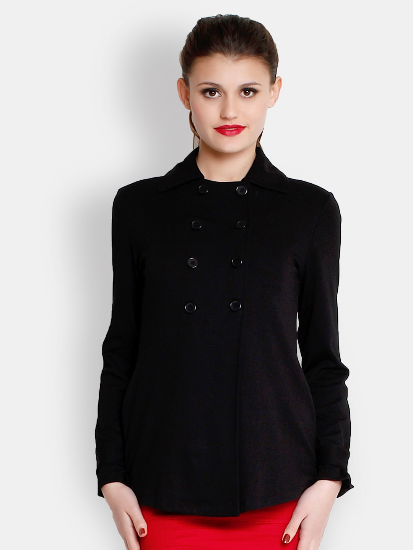 The Gud Look Women Black Jacket