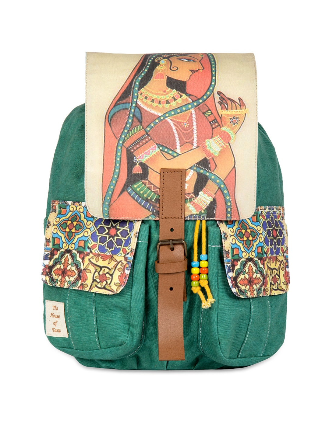 The House of Tara Unisex Multicoloured Printed Backpack