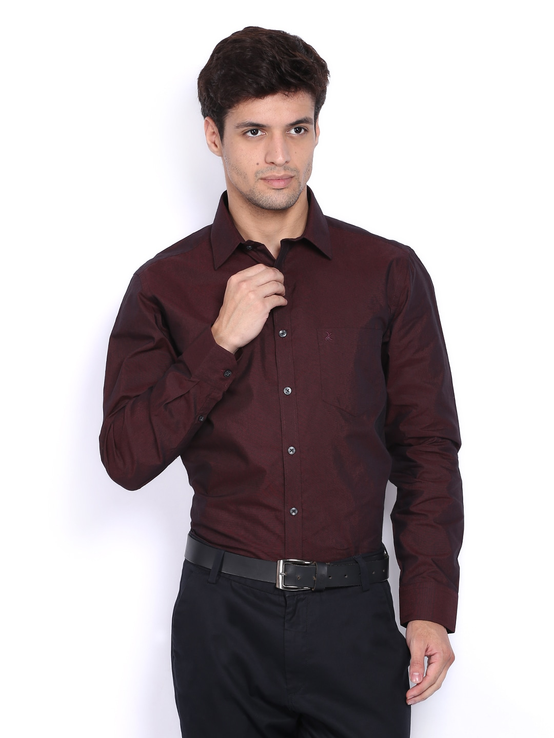Mens Slim Fit Short Sleeve Black Shirt