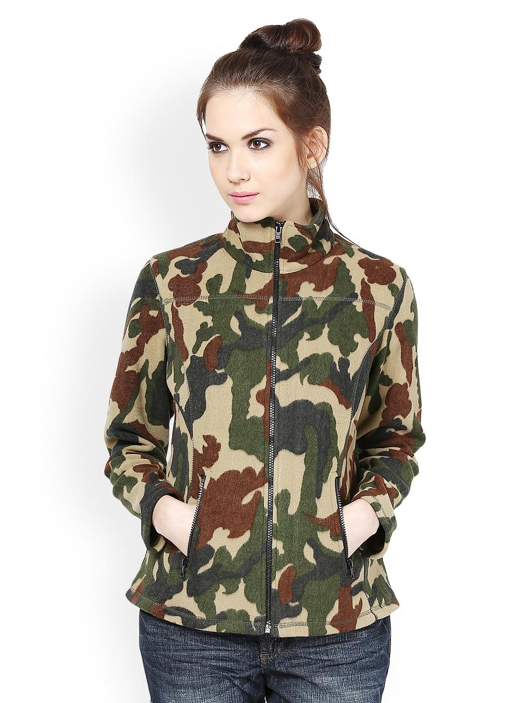 The Vanca Women Multicoloured Printed Fleece Jacket