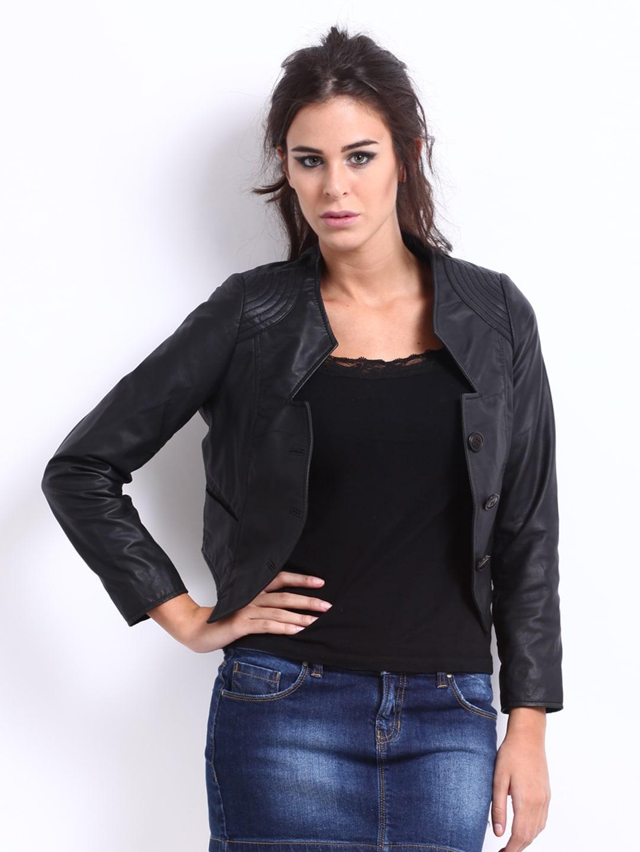 The Vanca Women Black Leather Jacket