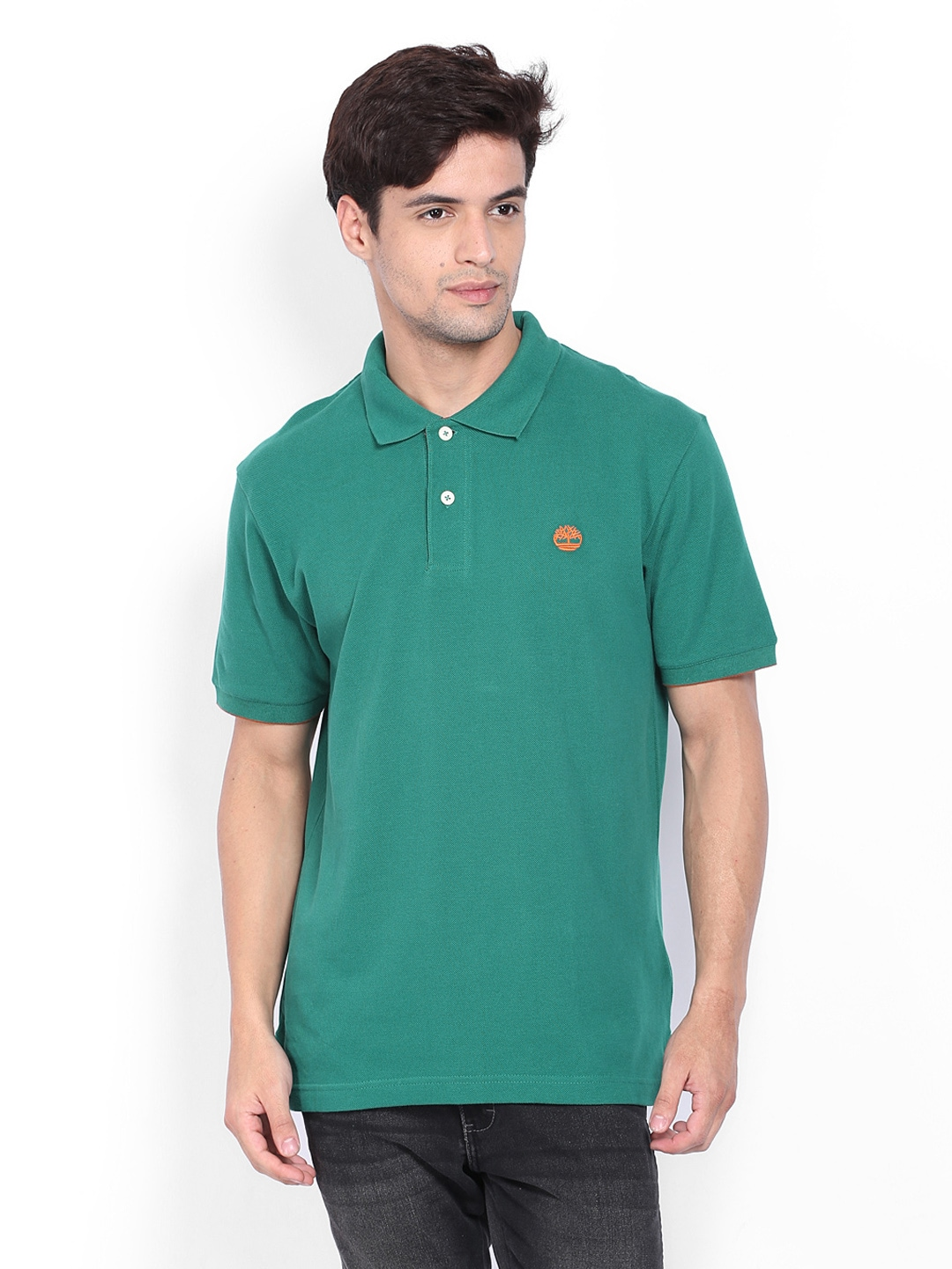 Timberland Timberland Men Green Polo T-Shirt (Multicolor)
