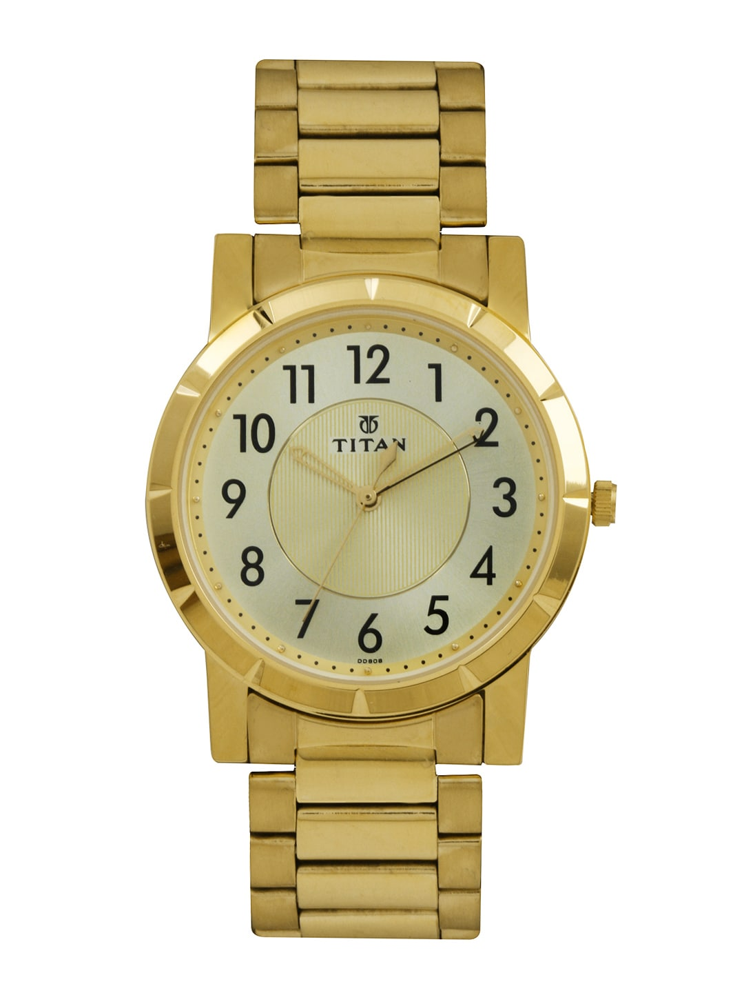 Titan Men Gold-Toned Dial Watch 1647YM02
