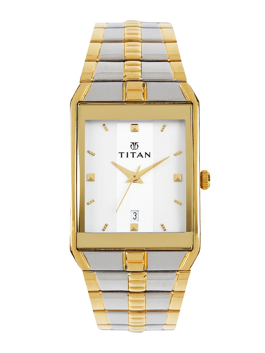 Titan Men White Dial Watch NE9151BM01