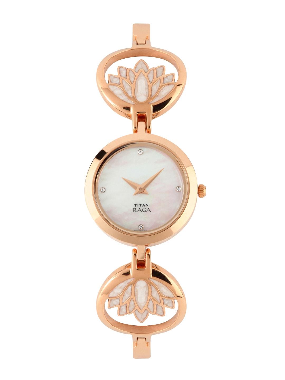 Titan Raga Women Garden Of Eden Pearly White Dial Watch 2540wm01
