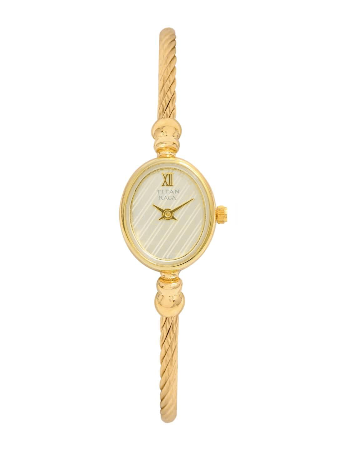 Titan Raga Women Cream-Coloured Dial Watch NB197YM01