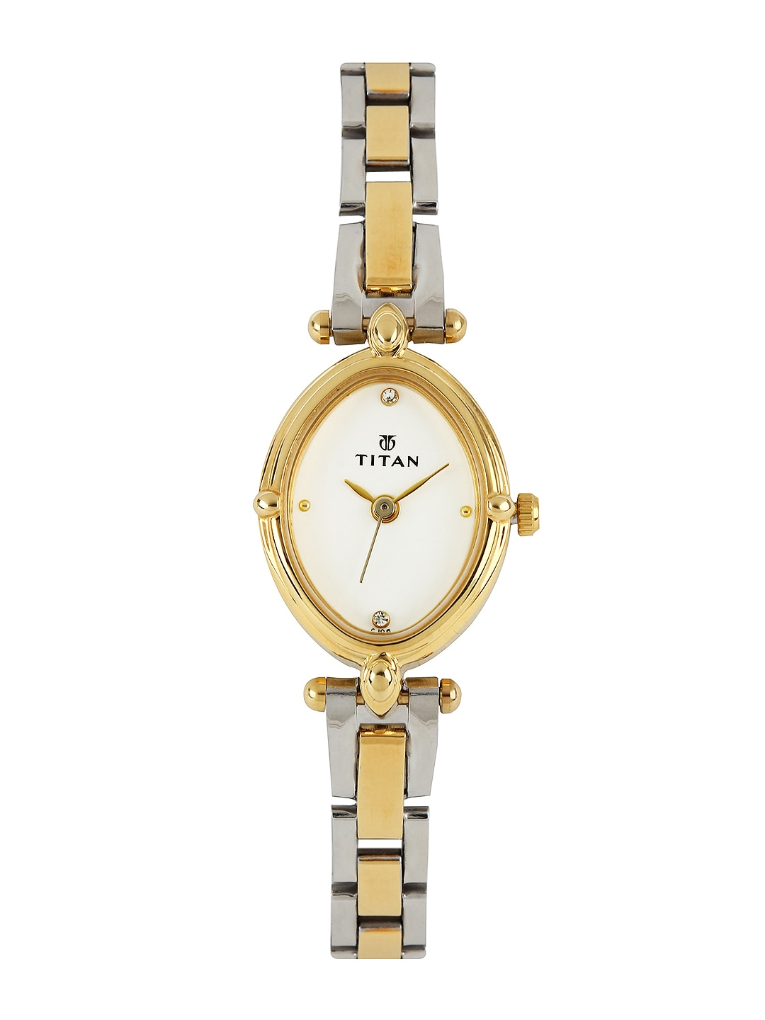 Titan Women White Dial Watch NE2419BM01