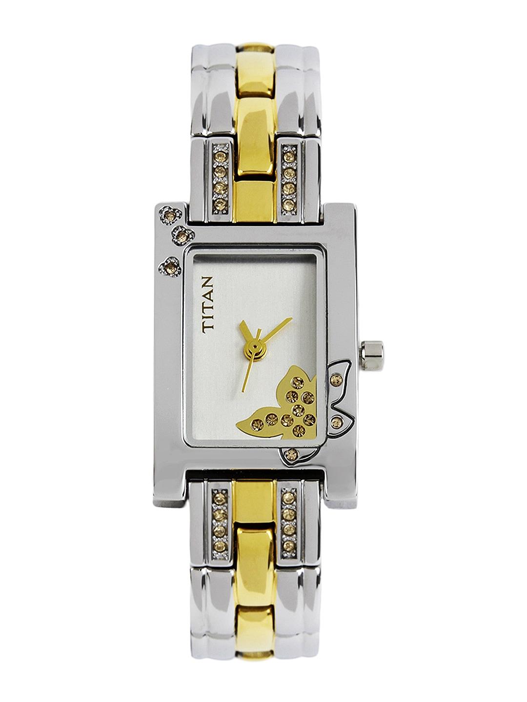 Titan Raga Women Silver-Toned Dial Watch NE9716BM01J