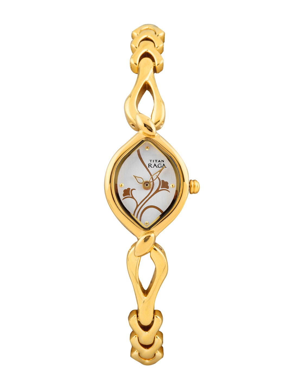 Titan Raga Women Silver-Toned Dial Watch NE2455YM01
