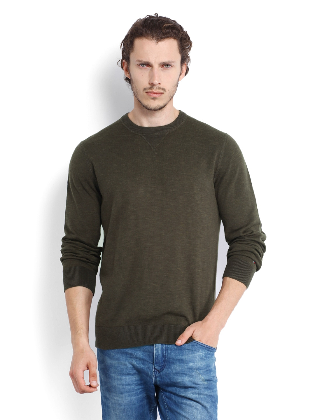 Tommy Hilfiger Men Brown Sweater