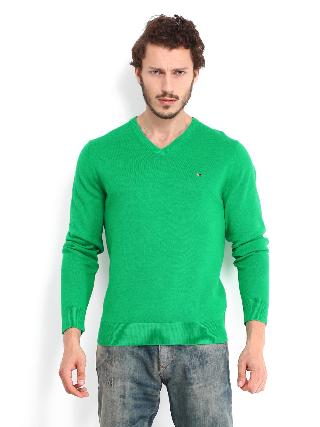 Tommy Hilfiger Men Green Pacific Sweater