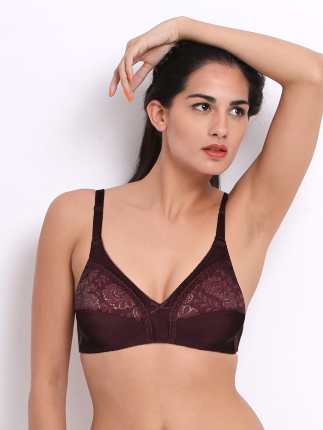 9c382b6ddd1 Triumph Burgundy Full-Coverage Bra 202I490