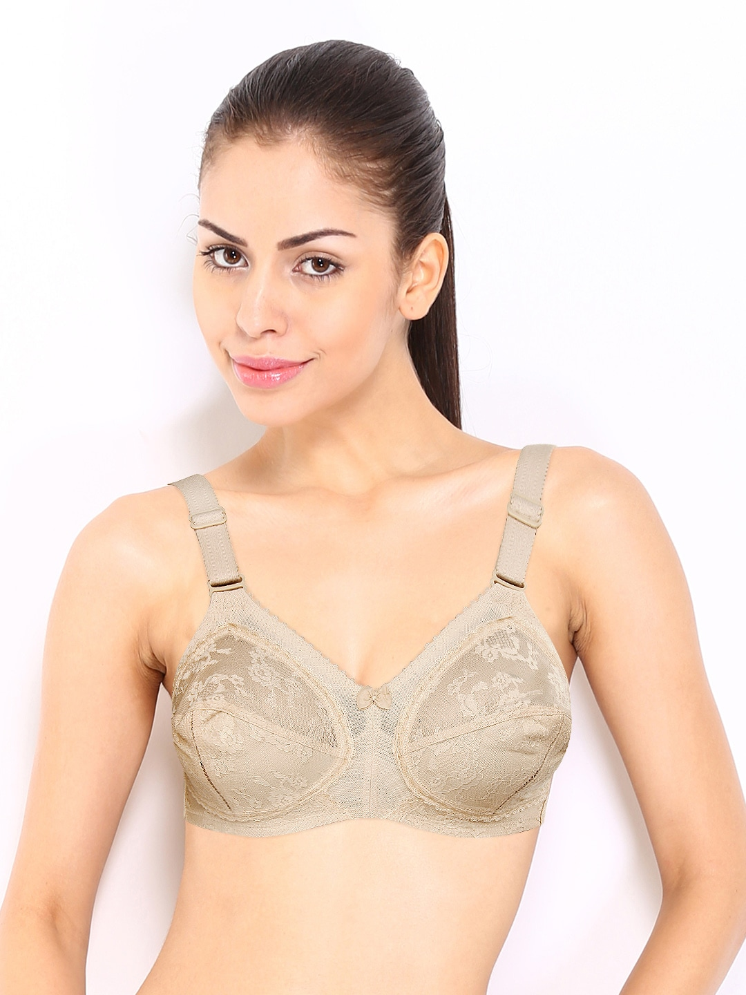 5f69ce4ec8 Triumph Nude-Coloured Full-Coverage Lace Bra 20-319