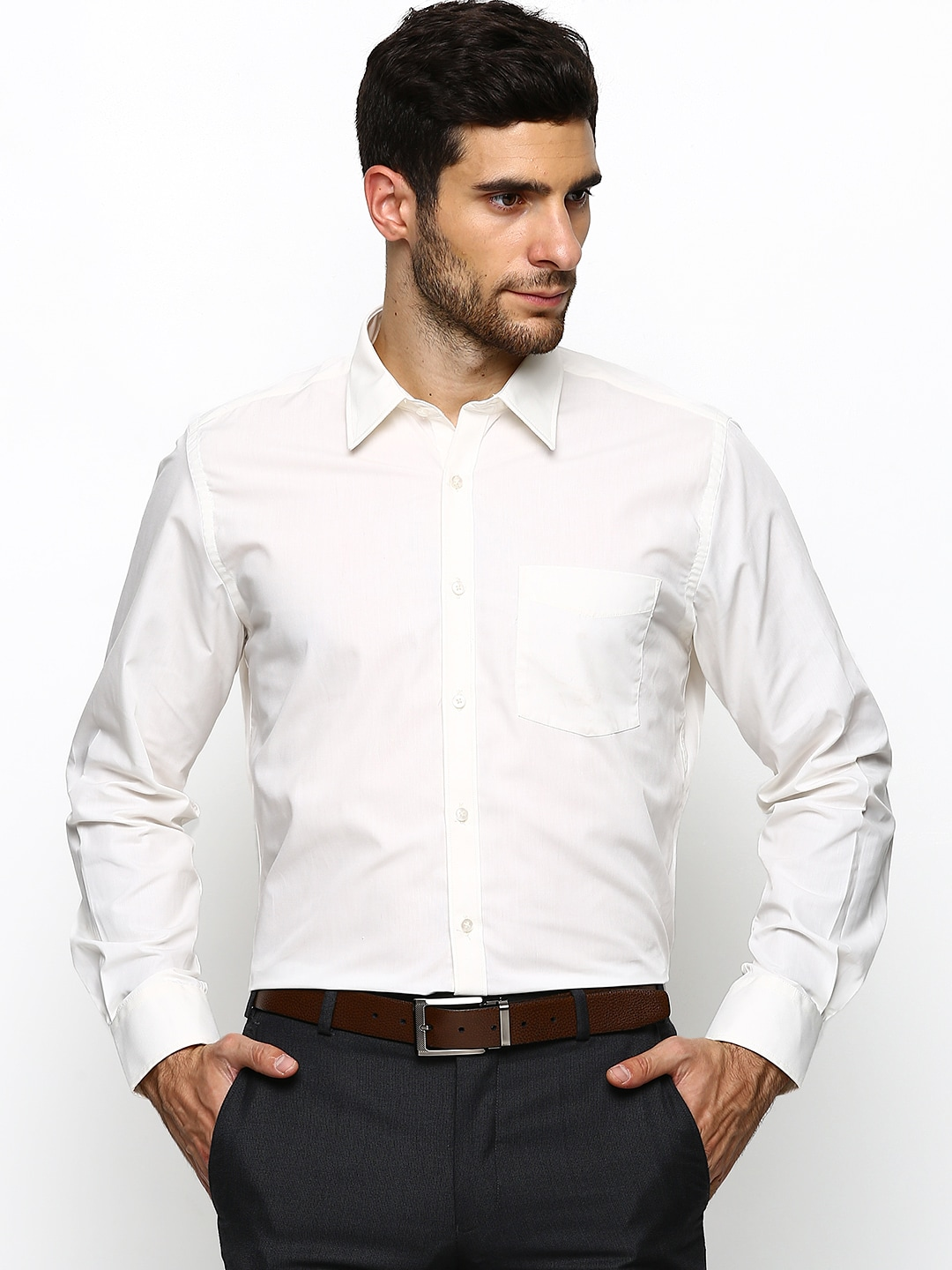 Whether work or a special occasion, elevate your look with men's white shirts, an essential for every wardrobe. Our collection of men's shirts in a variety of impeccable styles from slim fit or classic regular will keep you cool and comfortable throughout the day.