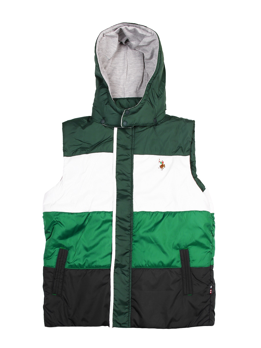 U.S. Polo Assn. Kids Boys Green & White Jacket