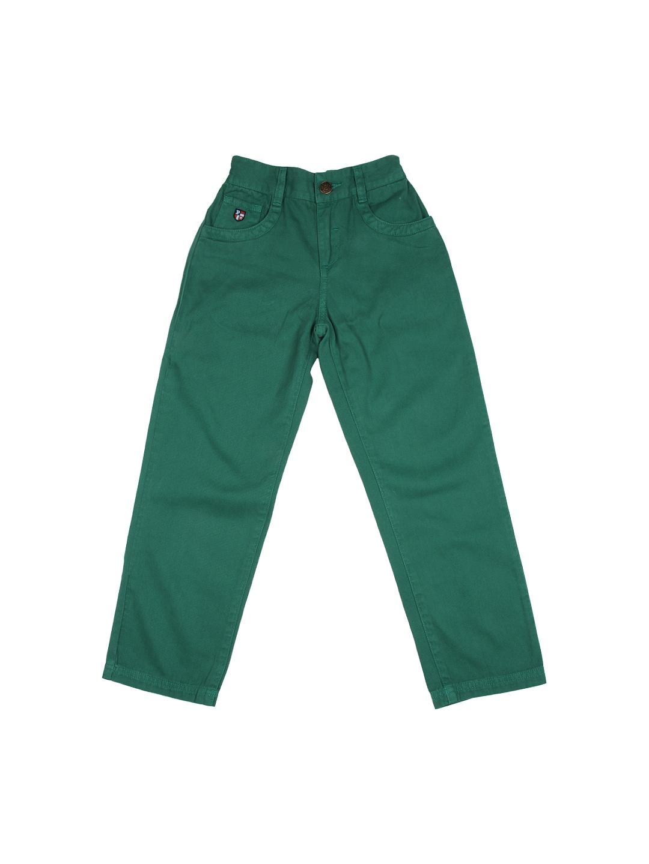 U.S. Polo Assn. Kids Boys Green Trousers