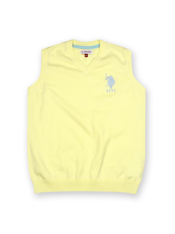U.S. Polo Assn. Kids Boys Yellow Sleeveless Sweater
