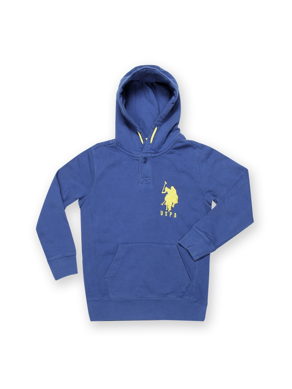 U.S. Polo Assn. Kids Boys Blue Hooded Sweatshirt
