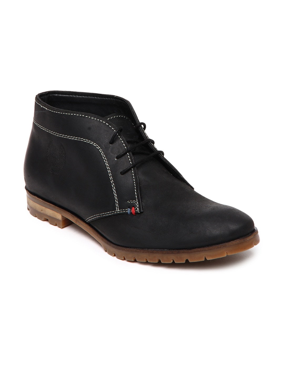 buy u s polo assn black leather casual shoes 632