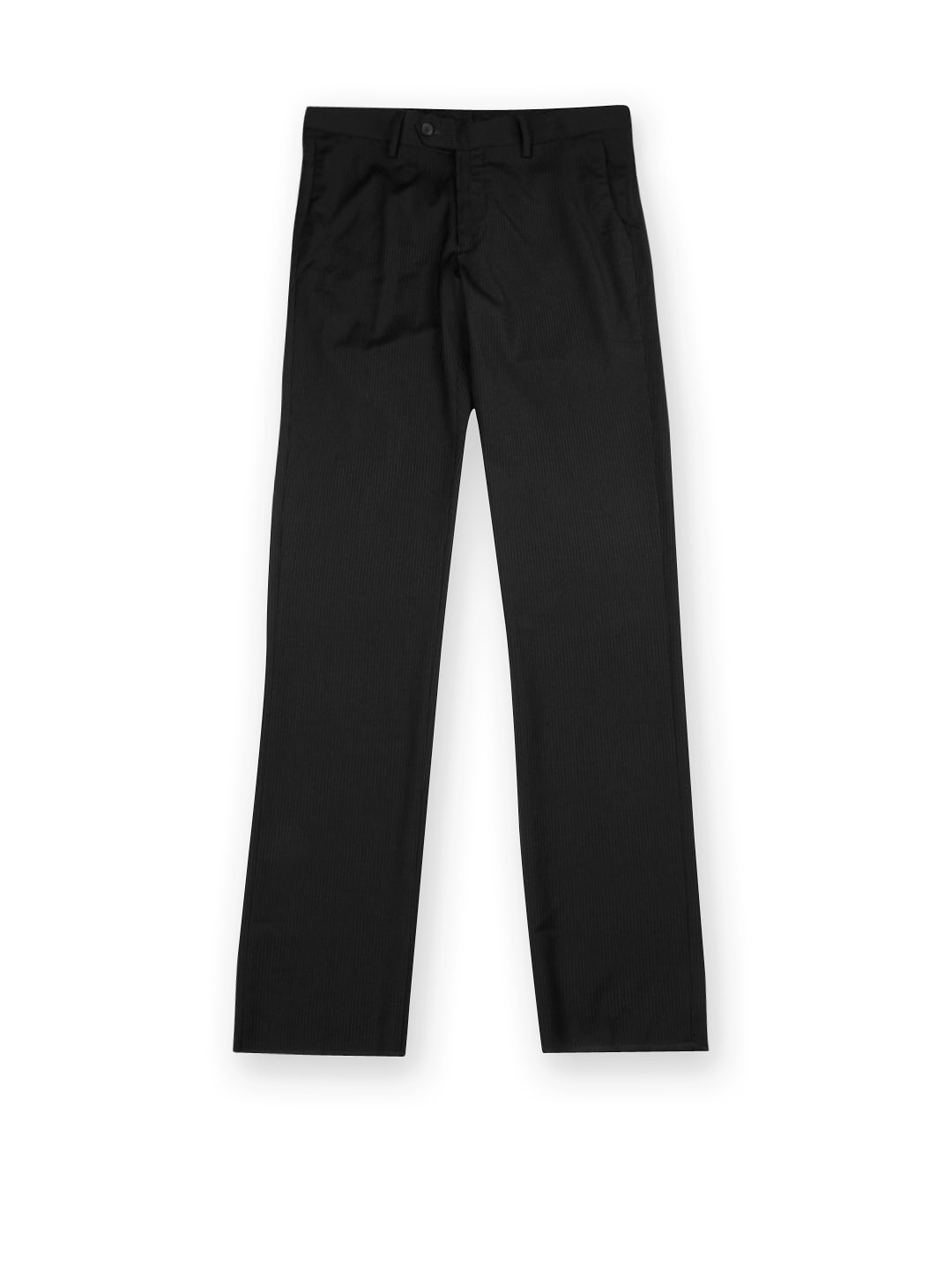 U.S. Polo Assn. Men Black Striped Tapered Fit Formal Trousers