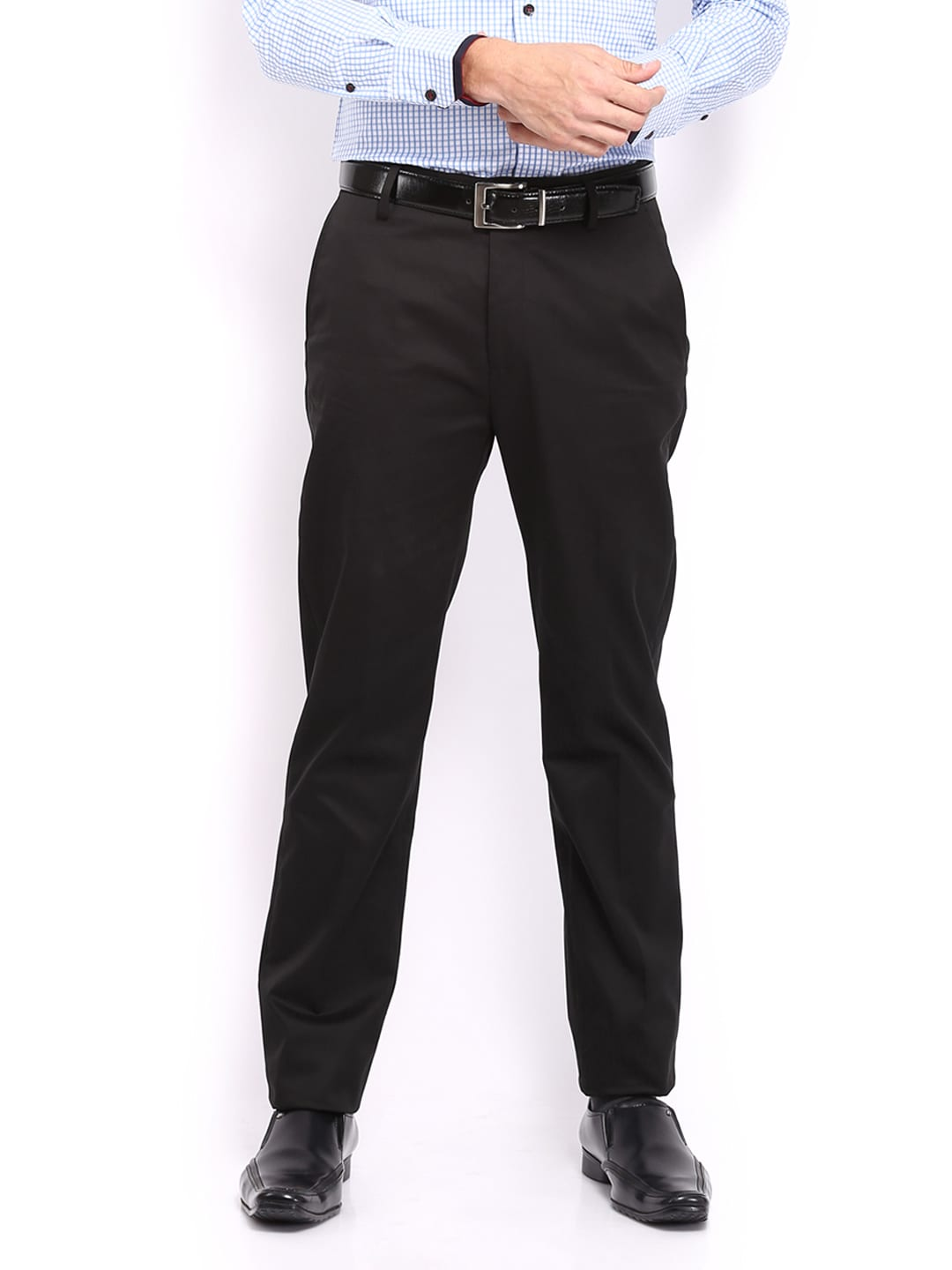 U.S Polo Assn. Men Black Tapered Fit Trousers