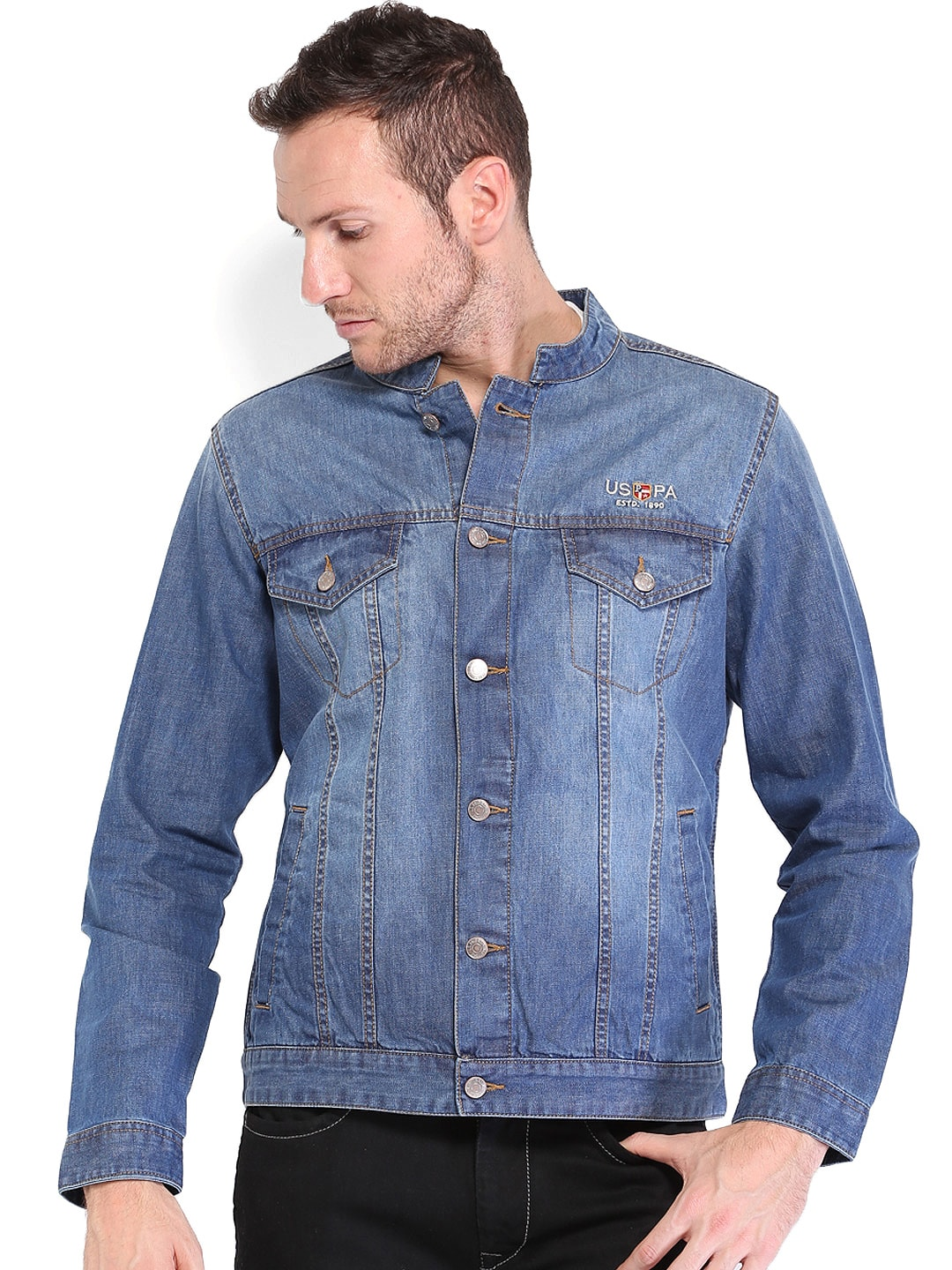 U.S. Polo Assn. Men Blue Denim Jacket