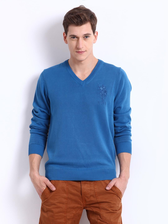U.S. Polo Assn. Men Blue Sweater