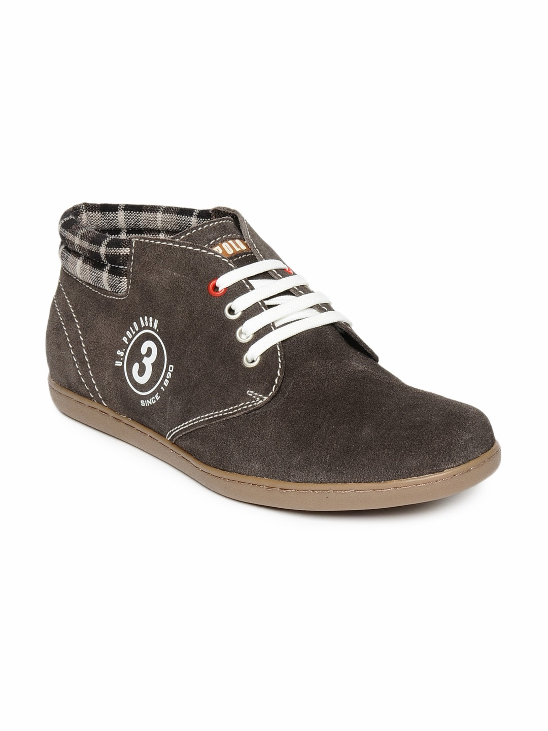 buy u s polo assn brown casual shoe 288 footwear