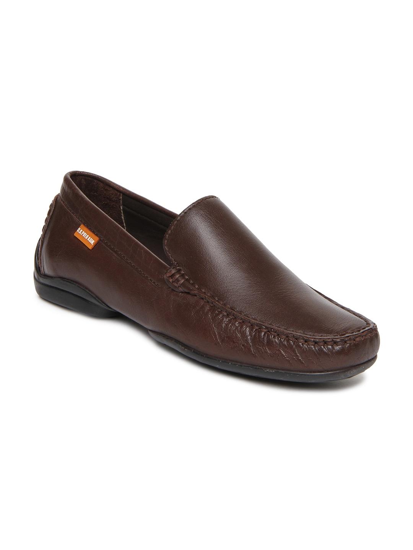 buy u s polo assn men brown leather casual shoes 632 footwear for men 335424. Black Bedroom Furniture Sets. Home Design Ideas