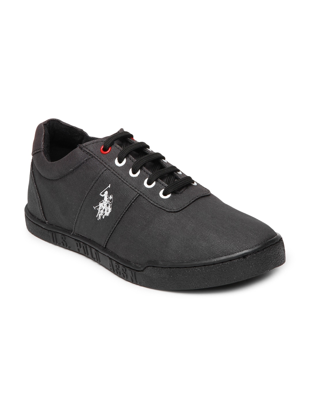 buy u s polo assn black casual shoes casual shoes