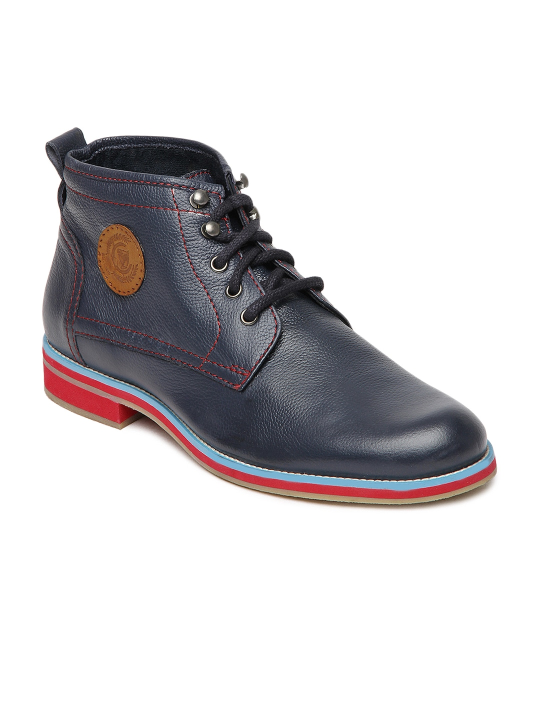 buy u s polo assn navy leather casual shoes casual