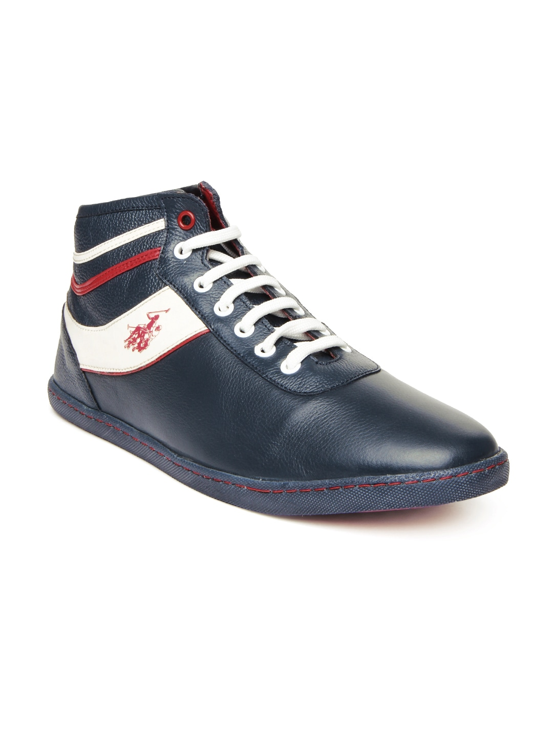 buy u s polo assn blue leather casual shoes 632
