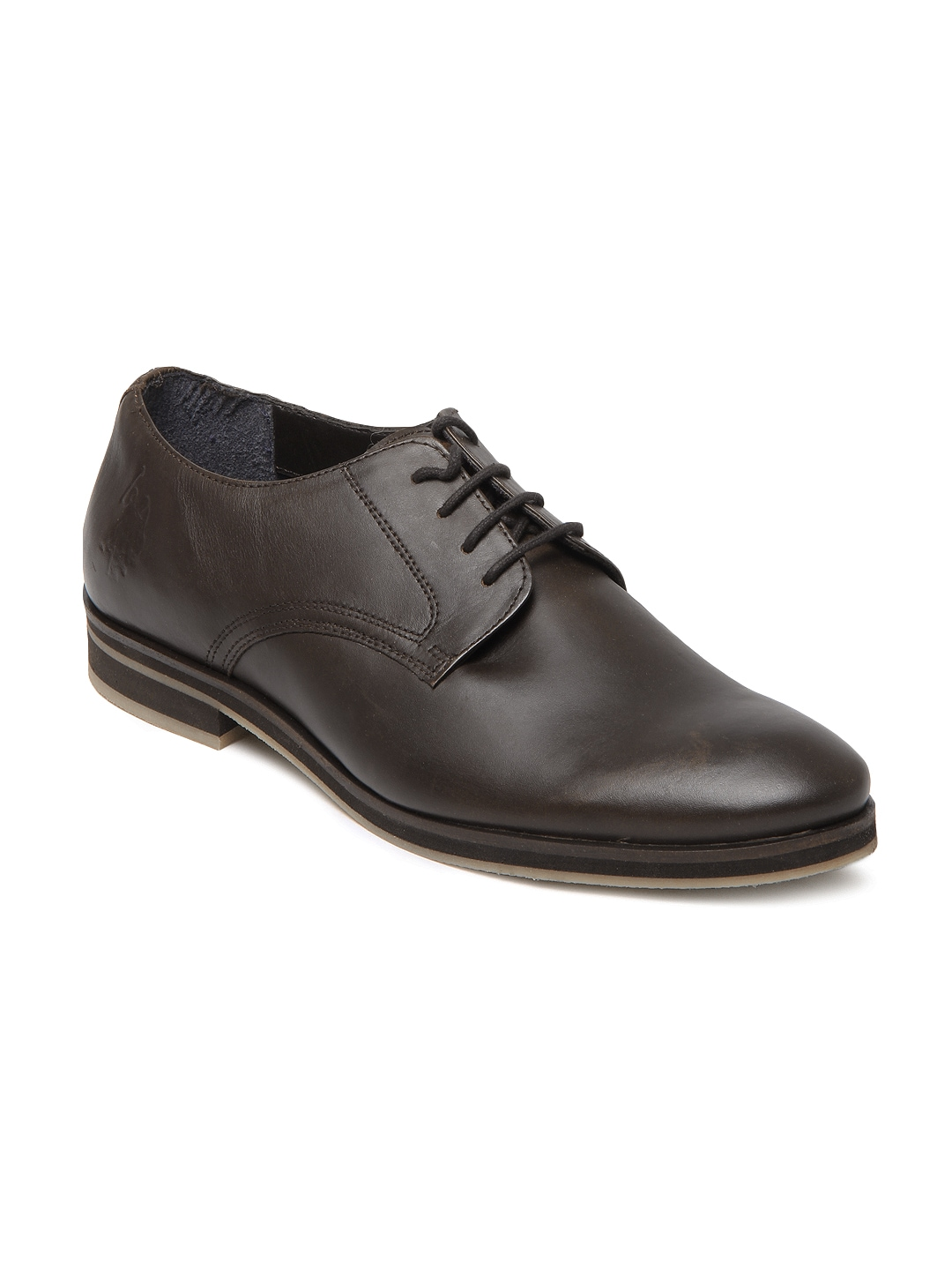 buy u s polo assn brown leather formal shoes 633
