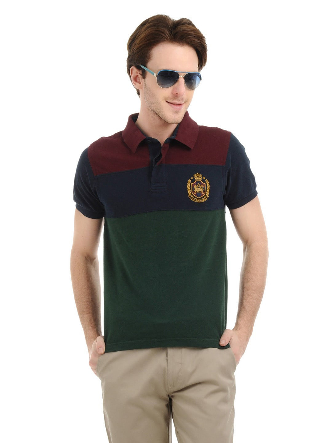 Buy u s polo assn men green navy blue polo t shirt for Us polo shirts for mens