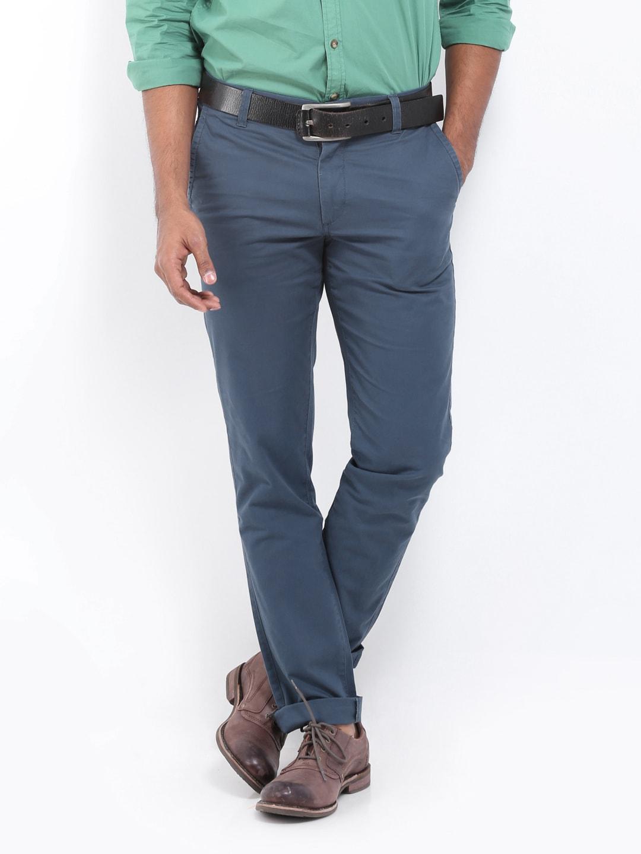 U.S. Polo Assn. Men Navy Slim Fit Trousers (blue)
