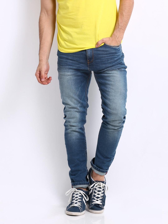 Buy United Colors Of Benetton Men Blue Carrot Fit Jeans  363