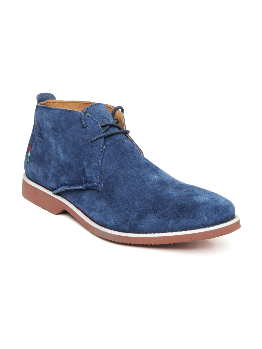 buy united colors of benetton blue suede casual shoes